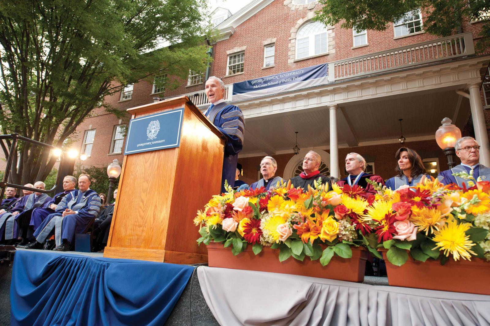 Celebrating the formal launch of the McCourt School of Public Policy