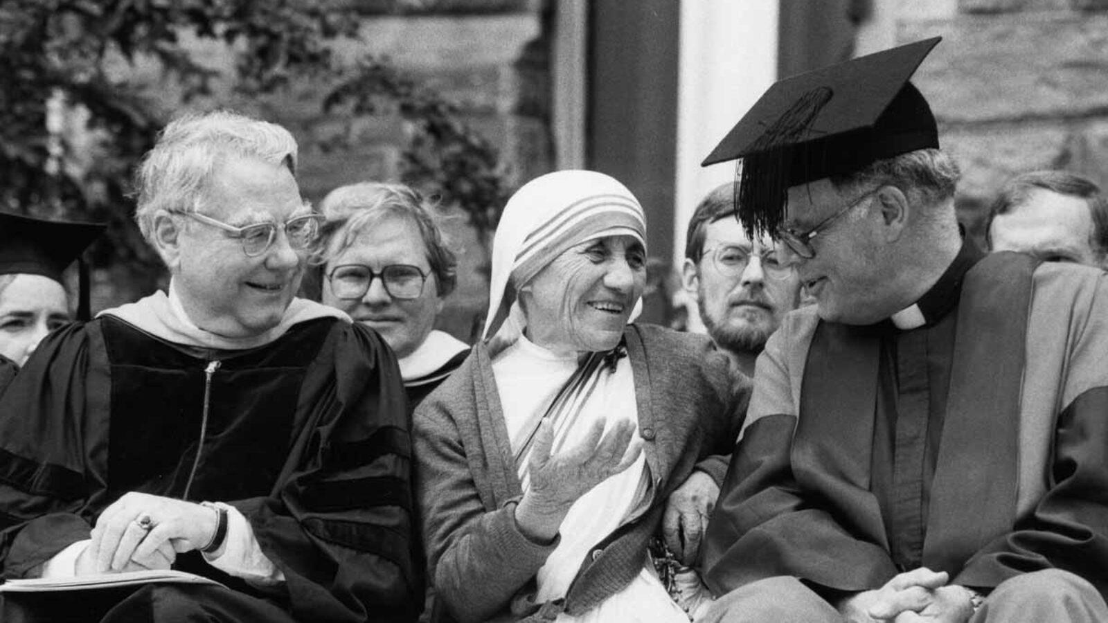 Mother Teresa and Timothy Healy SJ