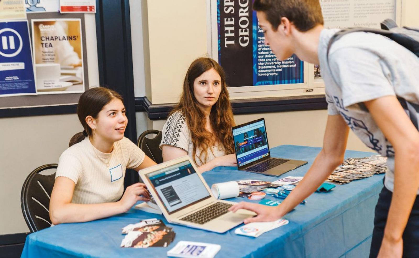 Students table for National Voter Registration Day in September 2019