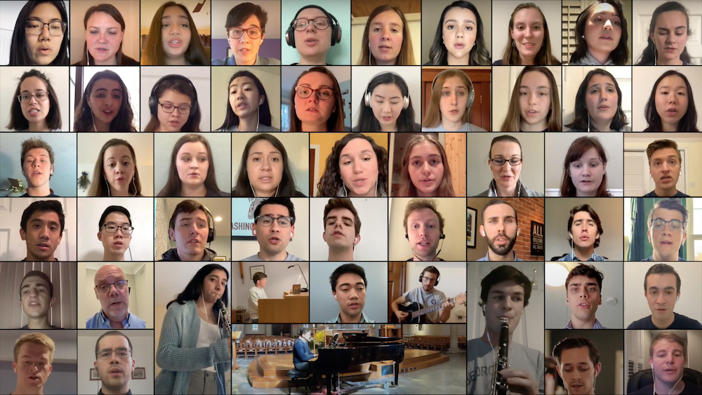 Screenshot of Virtual Choir