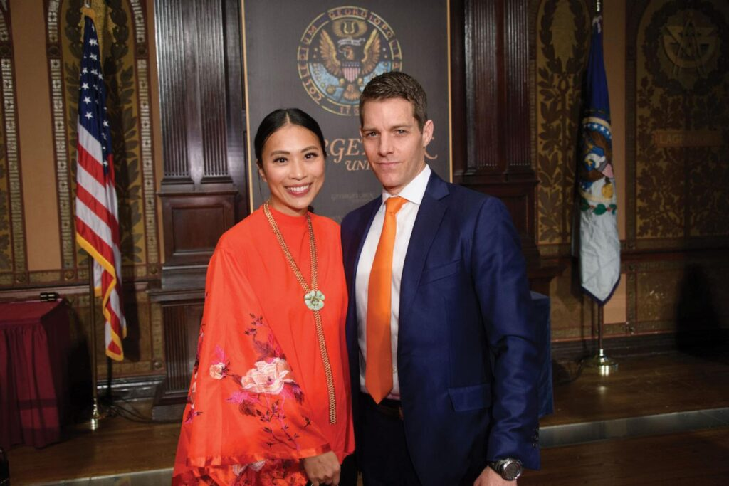 Janet and Michael (F'98) Cling were recently inducted into Georgetown's 1789 Society, a fellowship of donors who have committed $1 million or more to the university.