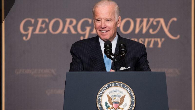 Joe Biden gives speech in Gaston
