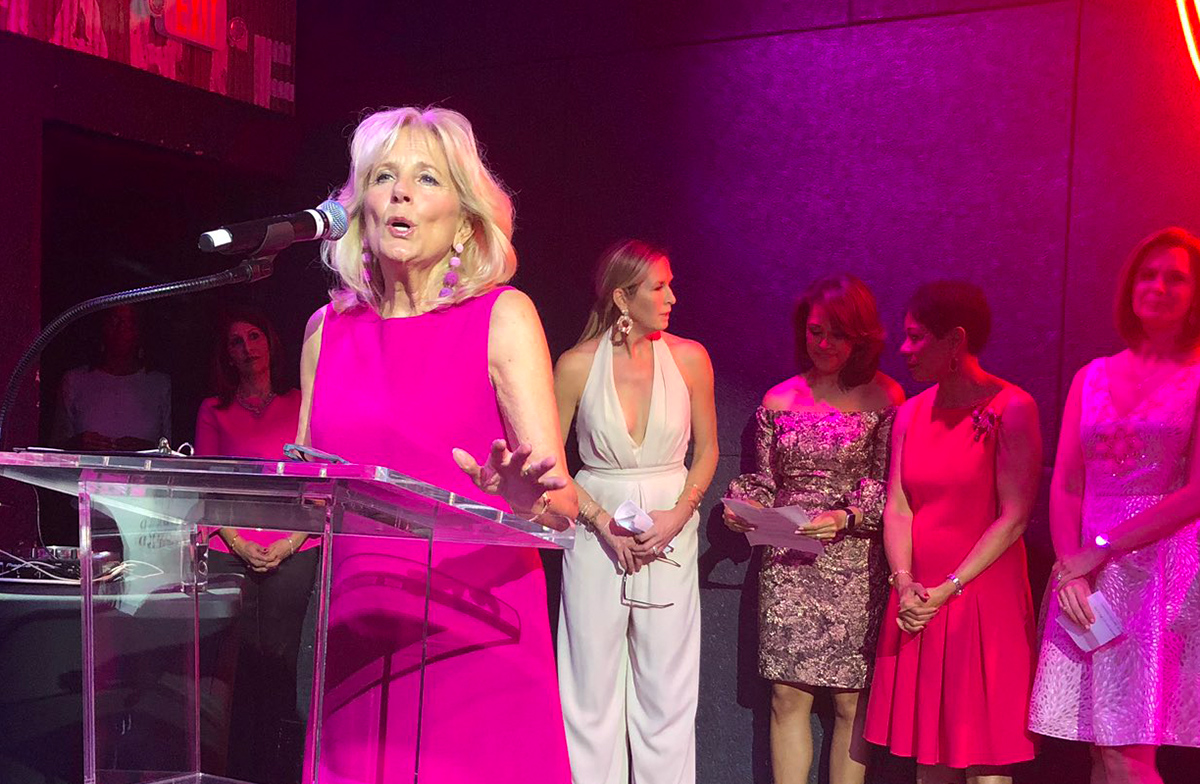 Former second lady of the United States Jill Biden, an ardent supporter of the NewsBash event over the last 10 years, spoke at this year's event about how her own family dealt with cancer.