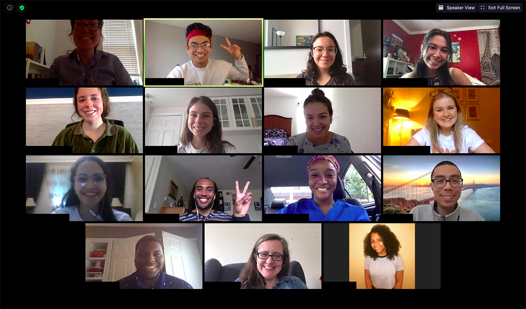 Screenshot of participants in the 2020 Idol Family Fellowship Program meeting over Zoom