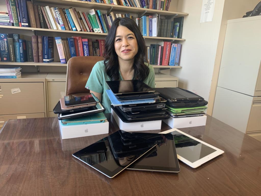 Dr. Garza with iPads